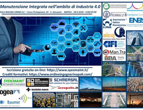 28 Settembre 2018. La Manutenzione Integrata Nell'ambito Di Industria 4.0