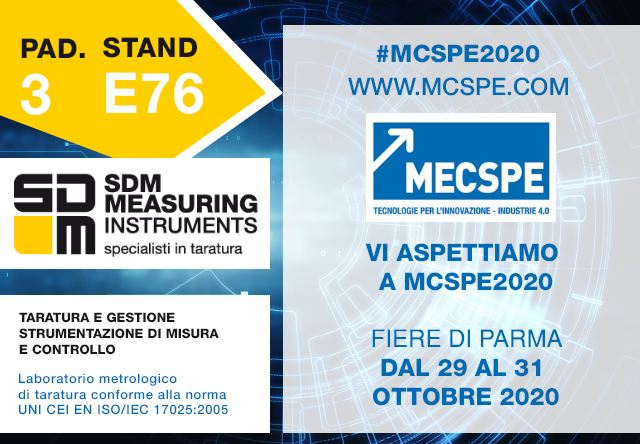 MECSPE2020 Laboratorio Metrologico di Taratura